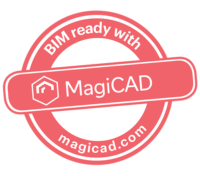 MagiCAD Stamp Logo BIM Ready With RED